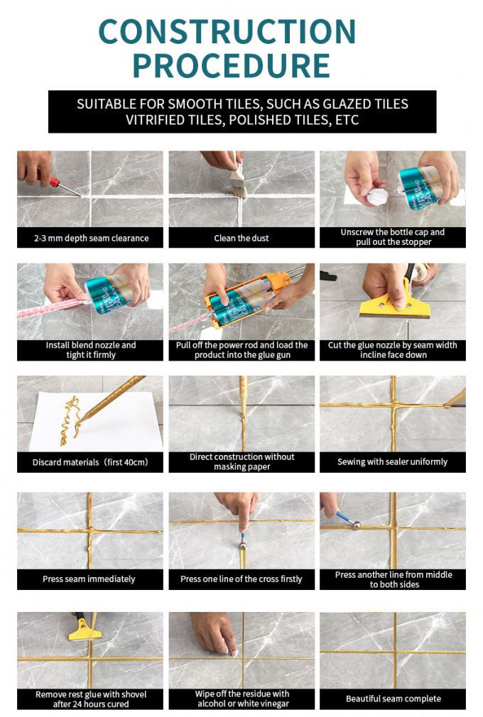 How to Grout Perflex Epoxy Tile Grout P-20 : easy to clean, easy to construct