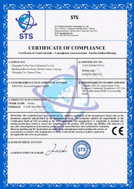 CE Testing Certificate - All PERFLEX tile grout have been verified in CE/Rohs system